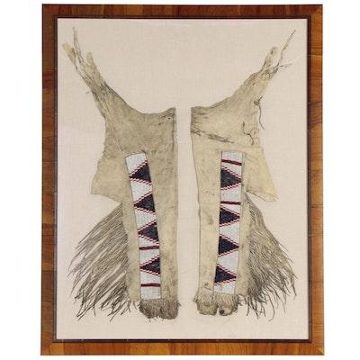 Great Basin Native American Beaded Buckskin Leggings