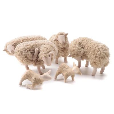 Colin's Creatures Dorset Sheep and Lamb Figurines