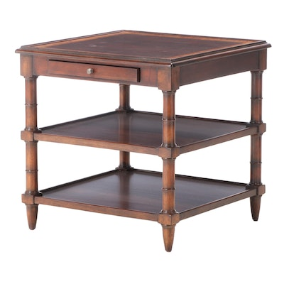 """Woodbridge """"Regency"""" Contemporary Mahogany-Finished Tiered Side Table"""