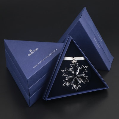 Limited Edition Swarovski Crystal Snowflake Annual Ornaments, 2018
