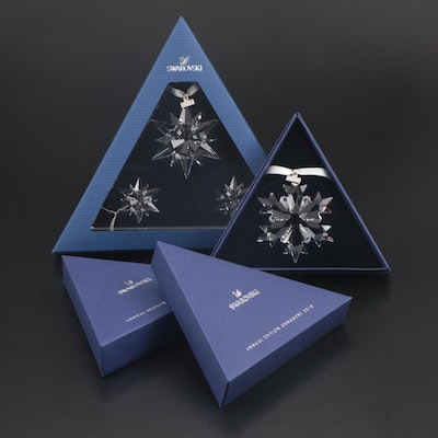 Limited Edition Swarovski Crystal Annual Snowflake Ornaments
