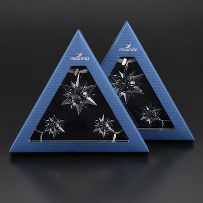 Limited Edition Swarovski Crystal Snowflake Annual Ornament Sets, 2017
