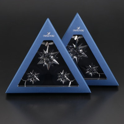 Limited Edition Swarovski Crystal Annual Snowflake Ornament Sets, 2017