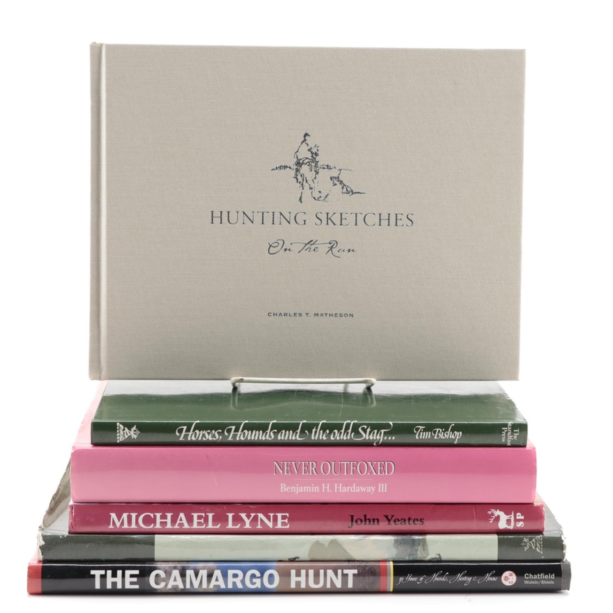 """Hunting Sketches On the Run"" by Charles T. Matheson and Other Hunting Books"