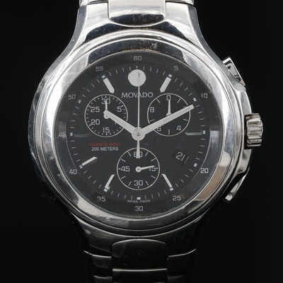 Movado Chronograph Series 800 Stainless Steel Wristwatch