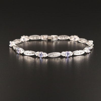 14K Tanzanite and Diamond Bracelet