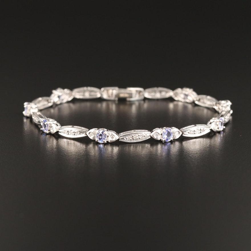 14K Tanzanite and Diamond Bracelet