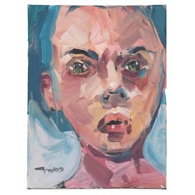 "Jose Trujillo Oil Painting ""Pig Nosed"", 2020"