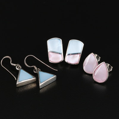 Selection of Sterling Silver and Mother of Pearl Earrings