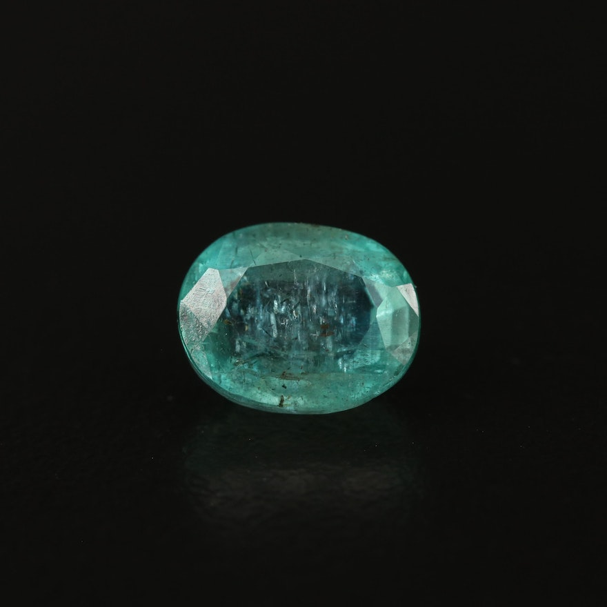 Loose 3.49 CTW Oval Faceted Emerald