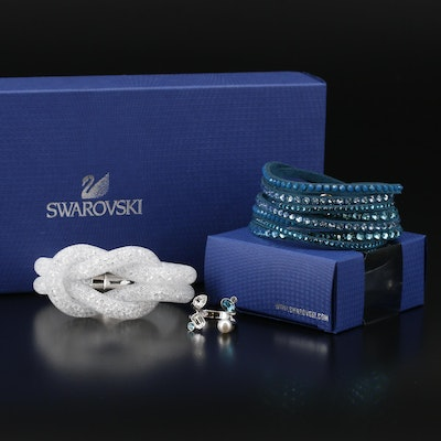 Swaroski Crystal Bracelets and Faux Pearl Ring