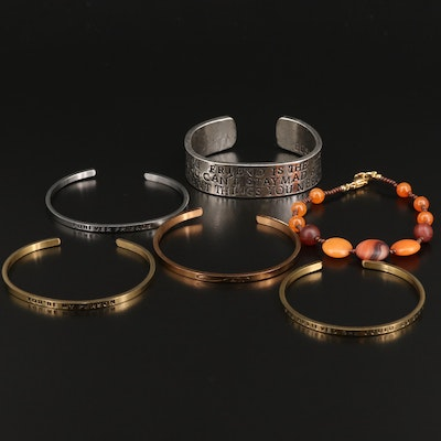 Best Friend and Beaded Bracelets and Cuffs Featuring Mantra Band