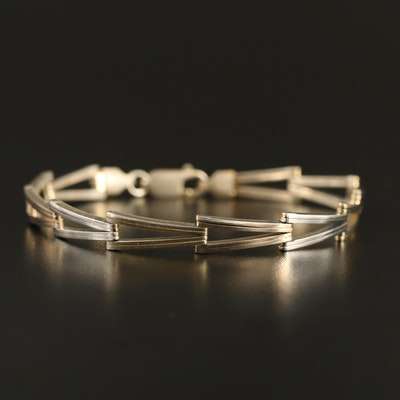 Sterling 'V' Link Bracelet