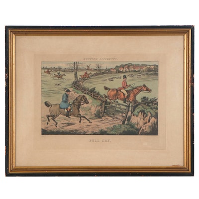 """Foxhunting Lithograph after Henry Thomas Alken """"Full Cry,"""" 20th Century"""