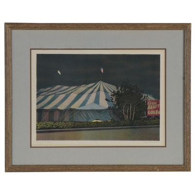 """Keith Rasmussen Lithograph """"Evening at the Circus,"""" 1979"""