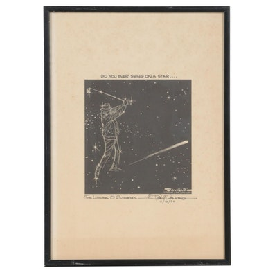 "Paul Conrad Dedicated Illustration Print, ""Did You Ever Swing on a Star"""