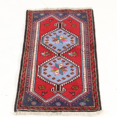 1'11 x 4'7 Hand-Knotted Persian Zanjan Accent Rug