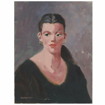 Michael Lemmermeyer Oil Portrait, Mid 20th Century