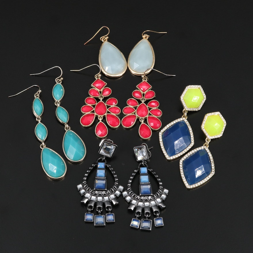 Dangle Earrings Selection Featuring Lia Sophia and Rhinestone Accents