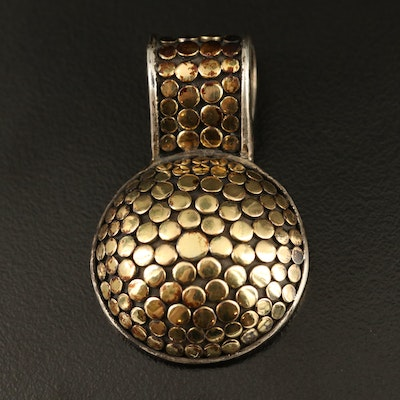 John Hardy Sterling and 18K Circular Pendant