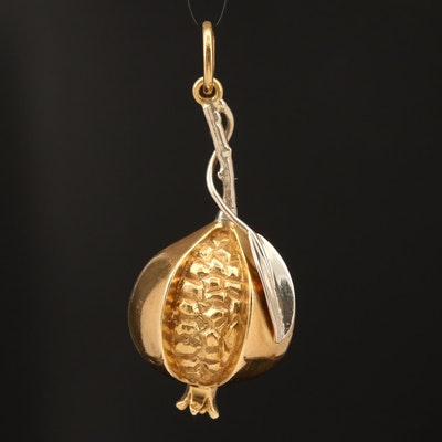 18K Pomegranate Pendant