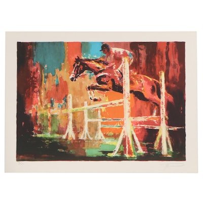 Georges Trincot Equine Lithograph of Show Jumping, Late 20th Century