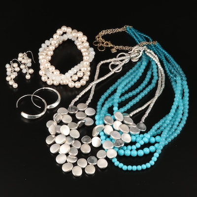 Glass and Faux Pearl Jewelry Featuring Jones New York