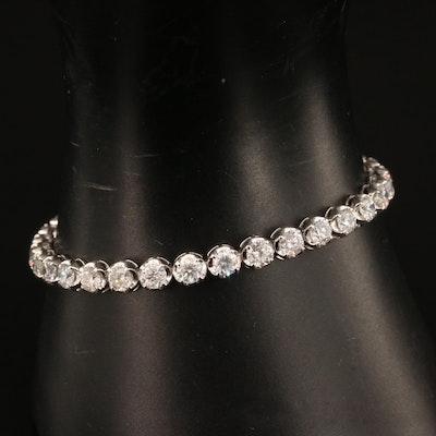 18K 8.25 CTW Diamond Line Bracelet