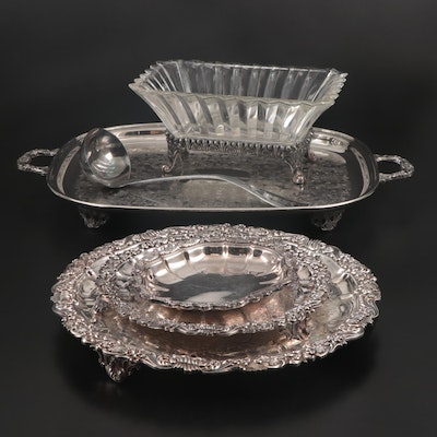 Mid-19th Century Hall & Elton Silver Plate Ladle and Other Silver Plate