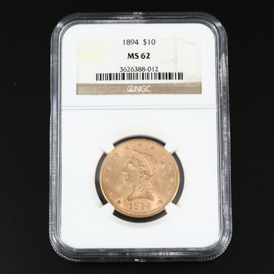 NGC Graded MS62 1894 Liberty Head $10 Gold Eagle