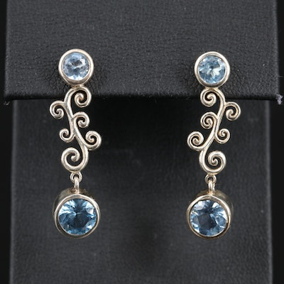 Sterling Silver Spinel Dangle Earrings