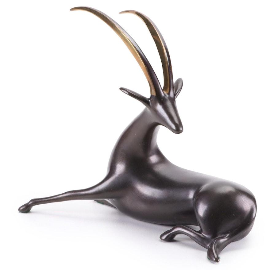 """Loet Vanderveen Bronze Sculpture """"Oryx"""""""