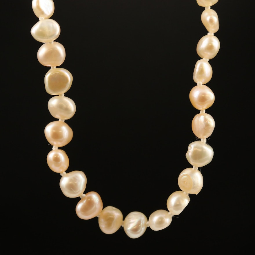 Single Strand Baroque Pearl Endless Necklace