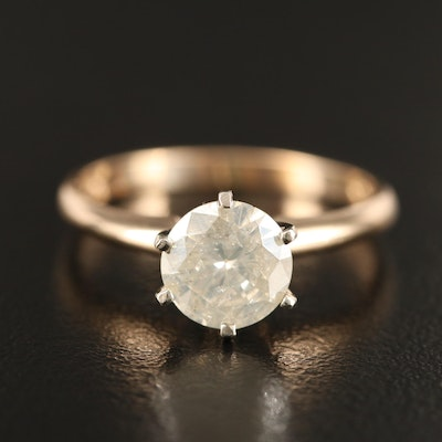 14K 1.15 CT Diamond Solitaire Ring