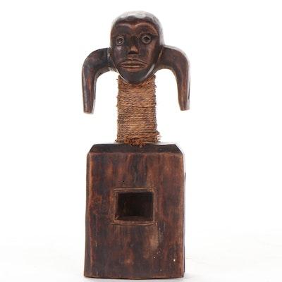 Mumuye Carved Wood Shoulder Mask, Nigeria