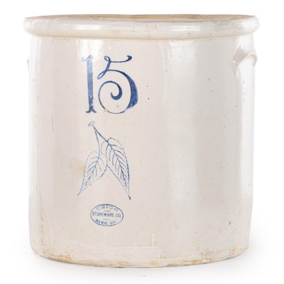 Union Stoneware Co. 15-Gallon Stoneware Crock, Late 19th/Early 20th C.