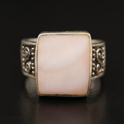Sterling Mother of Pearl Ring