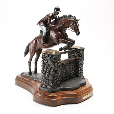 "Steve Hawkins Bronze Equestrian Sculpture ""Untouchable Dream,"" 1999"