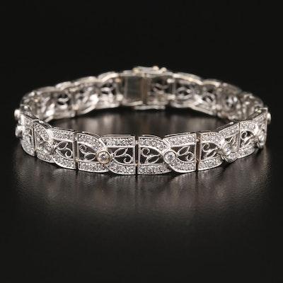 18K 2.03 CTW Diamond Openwork Bracelet
