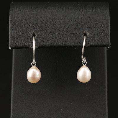 Sterling Pearl Dangle Earrings