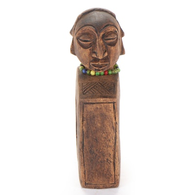 """Luba """"Kakishi"""" Carved Wood Divination Object, Central Africa"""