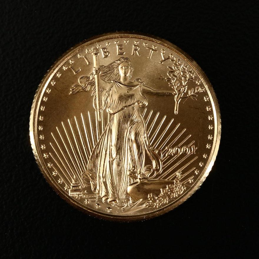 2001 Saint Gaudens $10 1/4 Ounce Fine Gold Coin