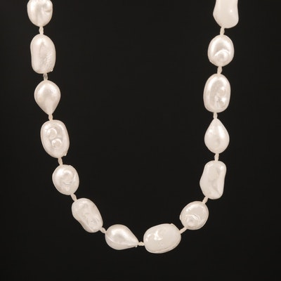 Endless Imitation Pearl Necklace