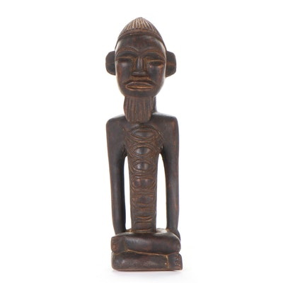 Teke Inspired Carved Wood Figure, Democratic Republic of the Congo