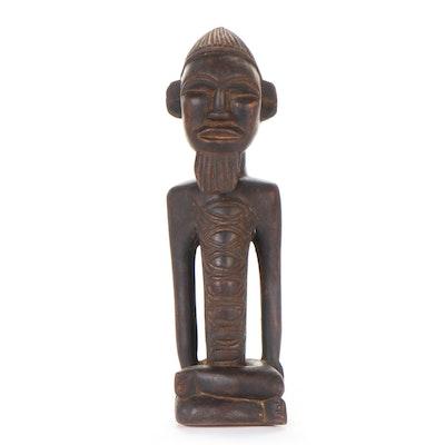 Bembe Carved Wooden Figure, Central Africa
