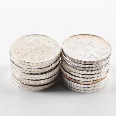 Roll of Twenty 1993 American Silver Eagle Bullion Coins