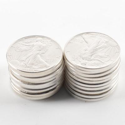 Roll of Twenty 1986 American Silver Eagle Bullion Coins