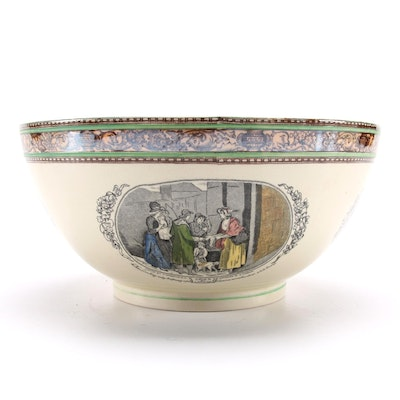 "Adams ""Cries of London"" Porcelain Serving Bowl, Early to Mid 20th Century"