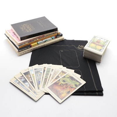 """""""The Mythic Tarot"""" Book with """"The Enchanted Tarot"""" Cards and Other Guide Books"""