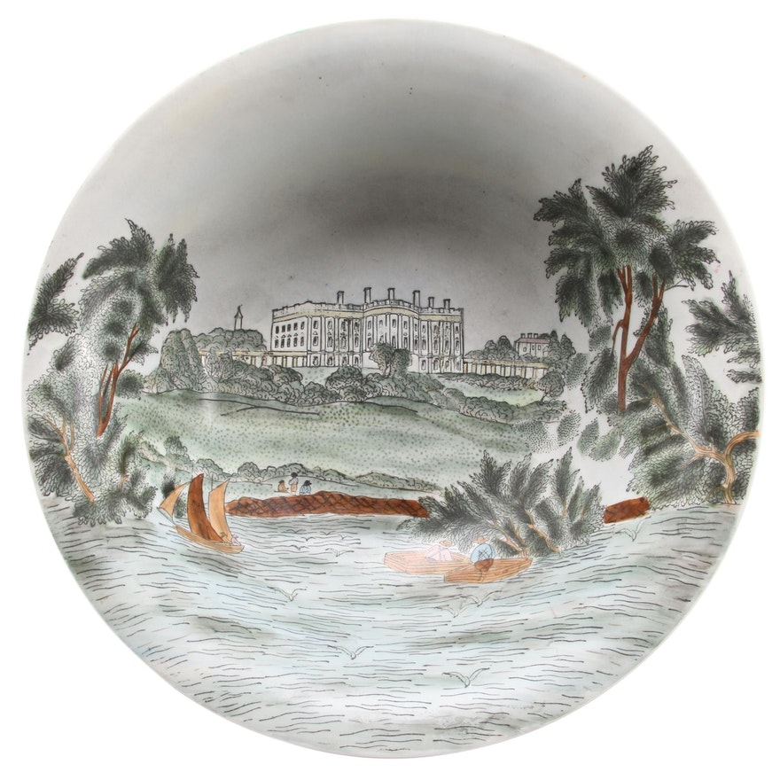 Chinese Hand Decorated and Glazed Porcelain Bowl from Charles Willis